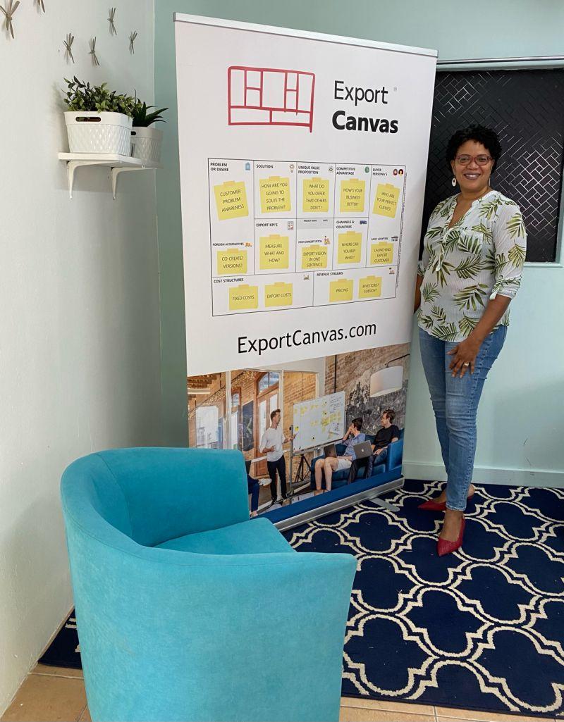Nelida Cathalina onze vertegenwoordigster Export Canvas Hub Caribbean